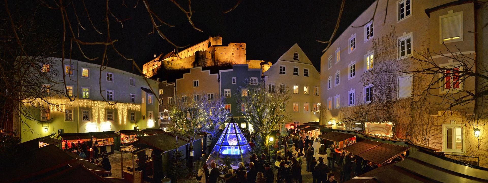 Advent in den Grueben Burghausen Panorama